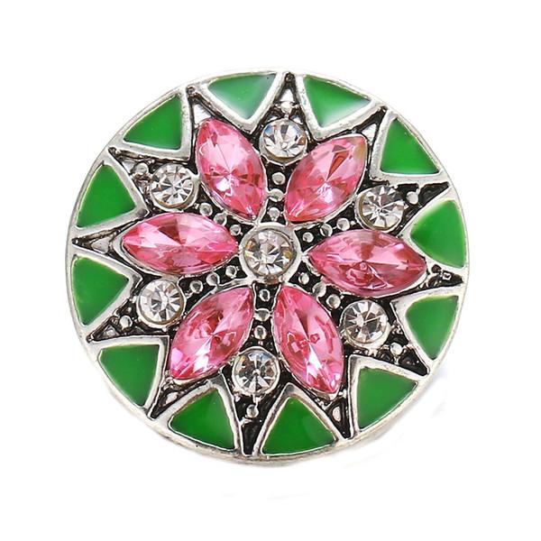 Yeni Çiçek 18mm Snap Düğme Takı Altın kasımpatı Metal Yapış Düğmeler Bilezik Fit DIY 18mm Mücevher Snaps
