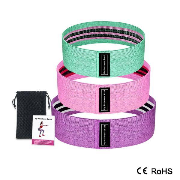 3 Niveau Cercle Hip Gym Yoga Les bandes de résistance Pilates jambe formation Expander entraînement des bandes élastiques en caoutchouc de remise en forme