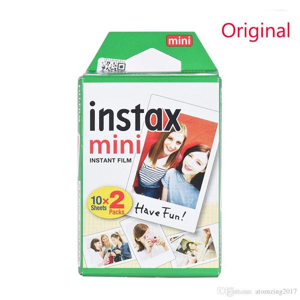 Newest 20pcs/box Original Instax White Film Intax For Mini 90 8 25 7S 50s Polaroid Instant Camera DHL free
