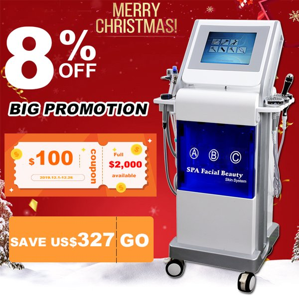 2019 hydra dermabrasion machines Anti aging device diamond tip microdermabrasion Shrink pores hydra peel machine free shipping