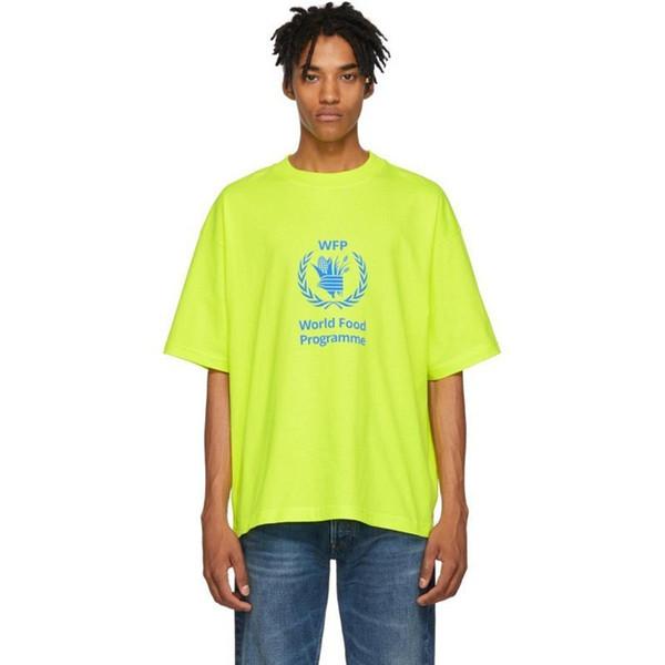 18FW BLCG WFP Oreilles De Blé Tee Lettre De Mode Imprimé Respirant T-shirt Casual Lâche Crewneck Rue Couple T-shirt Hommes Femmes HFYMTX389