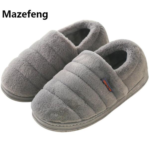 2018 Winter Keep Warm Women Slippers Men Casual Cotton Slippers Lovers Slippers