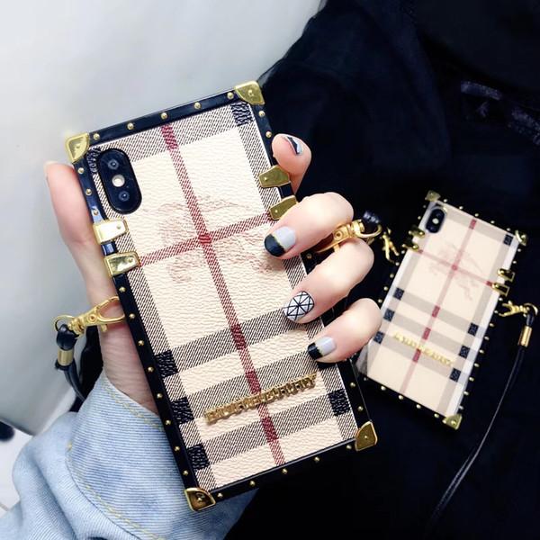 2018 Fashion Show телефон чехол для IPhone X XS Max XR Роскошный дизайн сотовый телефон чехол для IPhoneX 8 7 6 Plus Cross Body String Задняя крышка