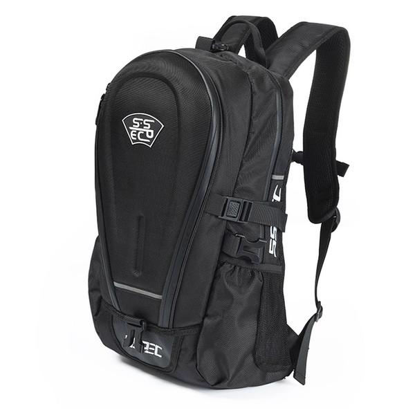 SSPEC Nagelneu Schwarz Oxford Tuch Motorrad Tasche Wasserdicht Reiten Rucksack Touring Gepäcktasche Motorradhelm Taschen Moto