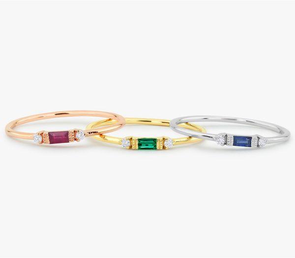 HAINON wedding rings jewelry for women Shiny green zircon romantic jewelry Best gift Friendship rings instock