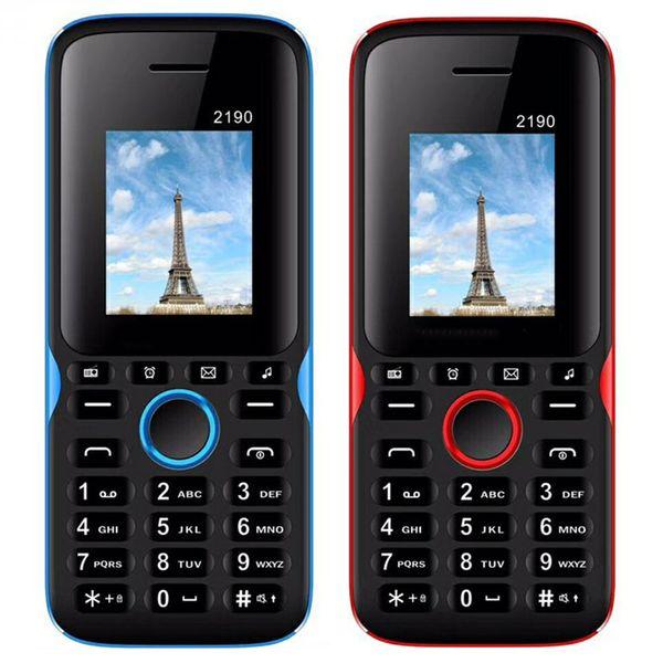 2190 GSM Mobile phone Dual sim card 1.77inch QCIF Screen Classic Cheap Cellphone 2.0 bluetooth unlocked cellphone