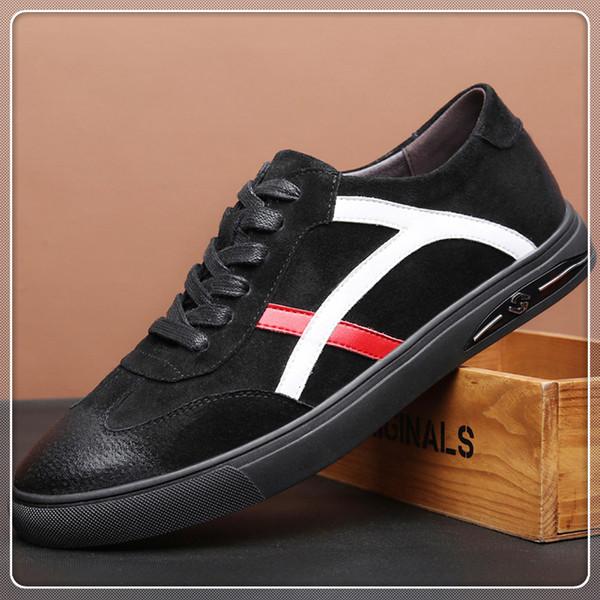 kutu toz torbası ile h1 Üst Kalite Büyük boy 38-45 lüks tasarımcıları Ayakkabı deri ace erkek ayakkabı artı boyutu lüks rahat ayakkabı
