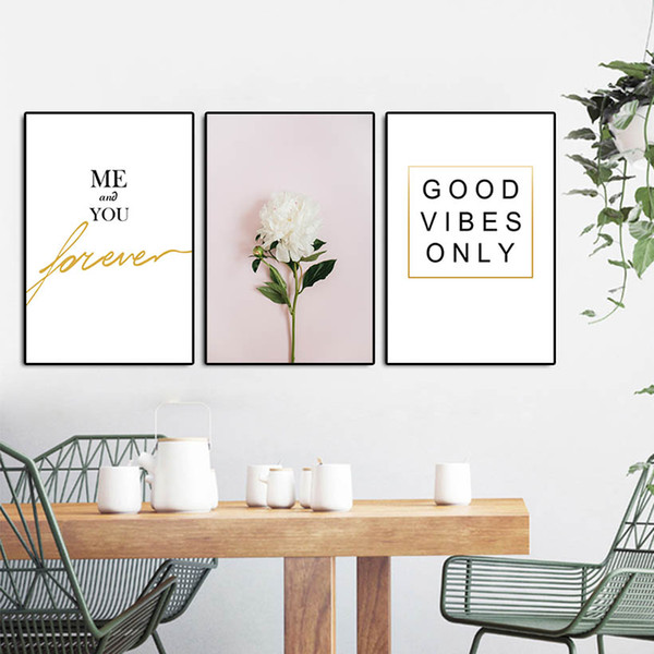 2019 3 Panel Canvas Wall Art With Words For Living Room Decor Posters And  Prints Flower Wall Art Canvas Painting Unframed AIJILE From Wallartpaint,  ...