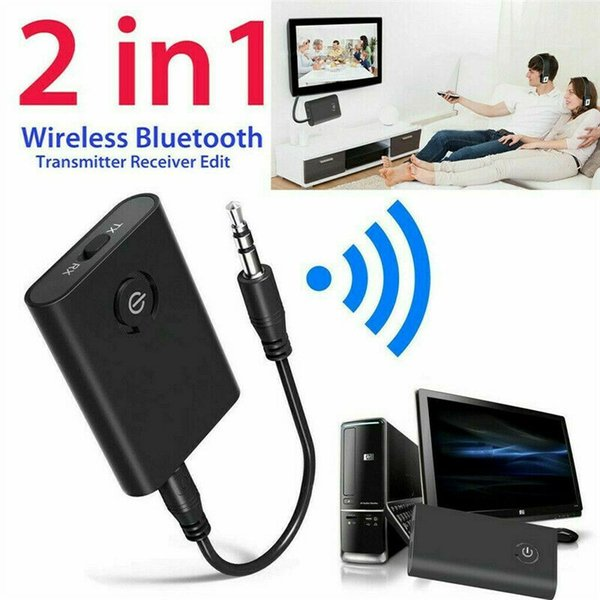2019 New Bluetooth 5.0 Transmitter and Receiver 2-in-1 Wireless Audio Aux 3.5mm Adapter Car Bluetooth 5.0Transmitter and Receiver 2-in-1