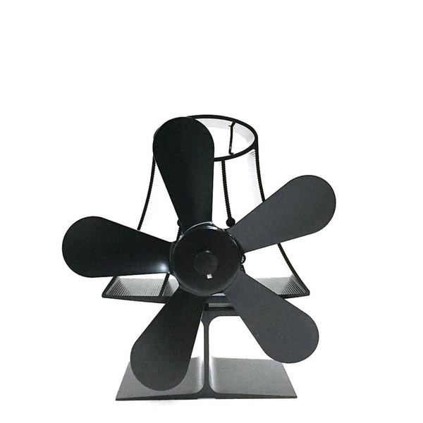 5-Blade Heat Powered Fogão Ventilador para Madeira / Log Burner / Lareira - Eco