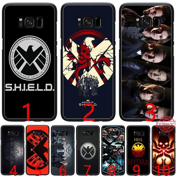 agents of s h i e l d Marvel Soft Silicone Black TPU Phone Case for Samsung A3 A5 2016 2017 A6 Plus 2018 Cover