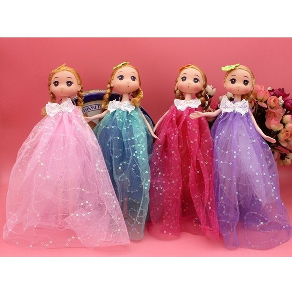 Beautiful Barbiee Princess Dolls With Coloured Spraying Clothes For Gift Doll Toy And Girl's Birthday Gift