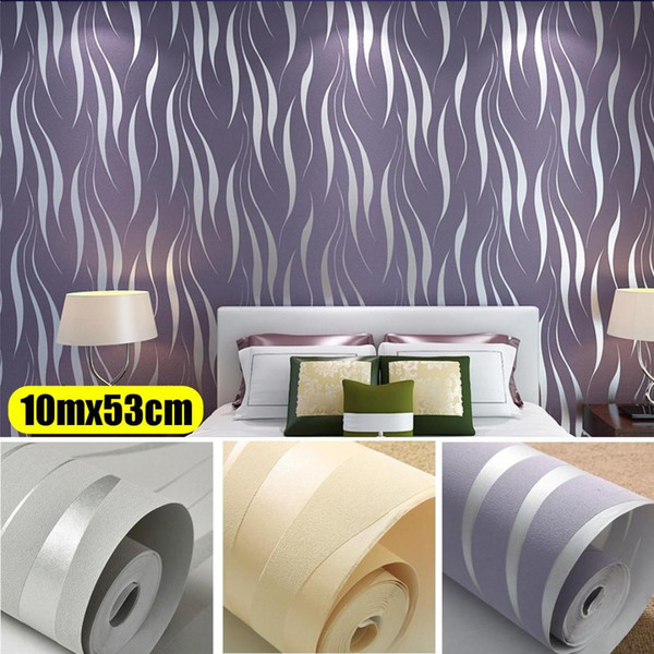 Modern 3D Soyut Geometrik Duvar Kağıdı Rulo Odası Yatak Odası Oturma odası Ev Dekor Için Kabartmalı Duvar Kağıdı Gri Bej Beyaz Mor