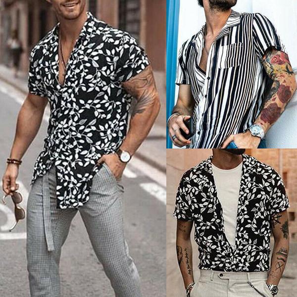 Chemise à manches courtes à manches courtes pour hommes