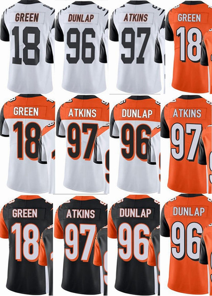 new concept e9428 c845b 2019 Cincinnati Bengals Custom Men/Youth/Women #18 A.J Green 96 Carlos  Dunlap 97 Geno Atkins Vapor Untouchable Limited/Rush/Elite Jerseys From ...