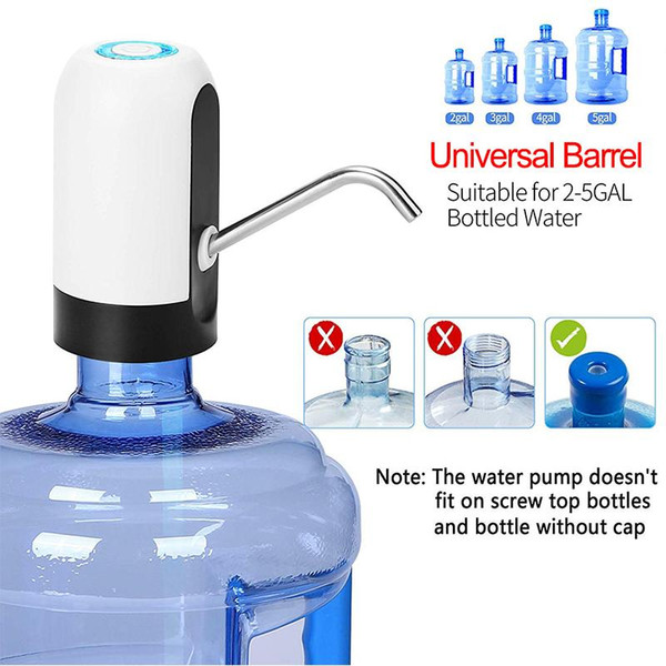 top popular Automatic Water Pump For Double USB Charging Bottle Motor Electric Bottle Dispenser For Drinking Water Pump Hand Pump Bottled Water 2021