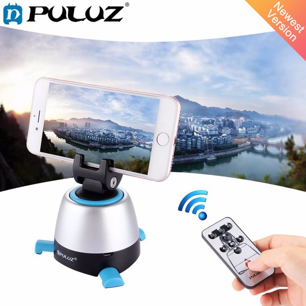PULUZ 360 Degree Rotation Panning Rotating Panoramic tripod head with Remote Controller Stabilizer for Iphone DSLR Cameras
