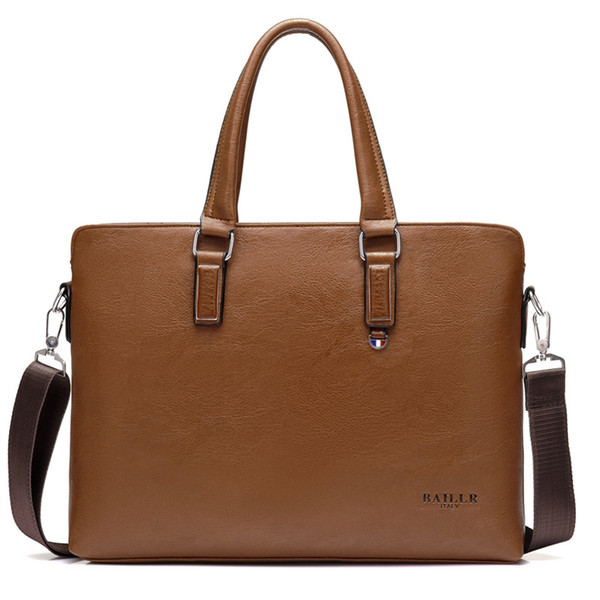 Men's Bag Briefcase 15 inches Handbag for Man PU Leather Shoulder Large Bags Travel Solid Briefcases Men Handbags Business Bag