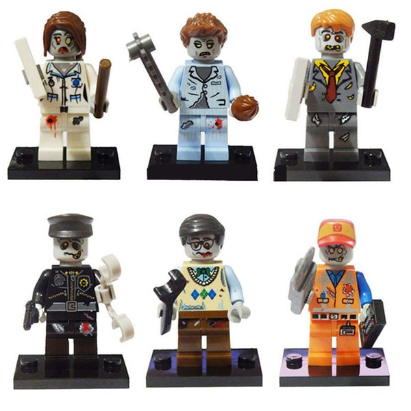 Hottest Zombie building blocks dolls educational toys thriller party assembling building blocks doll toys Kids toys