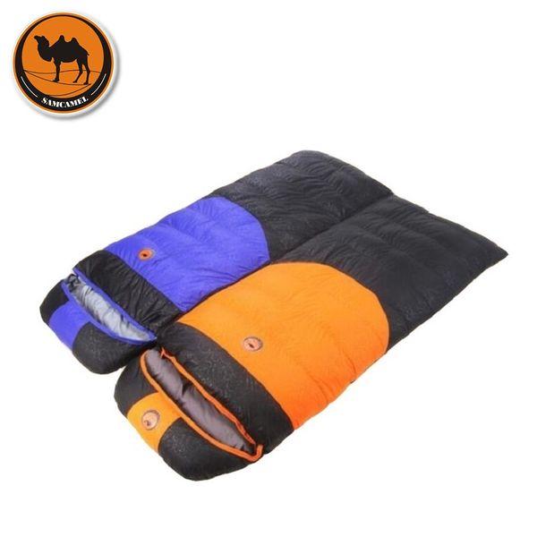 Camcel Uultralight Camping Sleeping Bag Camping Accessories Envelope Duck Down Sleeping Bag Adult winter 1900g