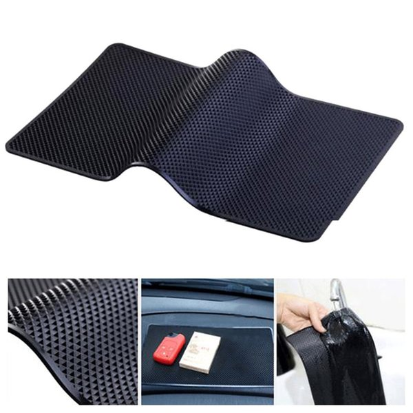 27x15cm Car Dashboard Anti-Slip Cell Phone Mat Holder For Key Sunglasses Cigarette Coins Non-slip Pad Decorative