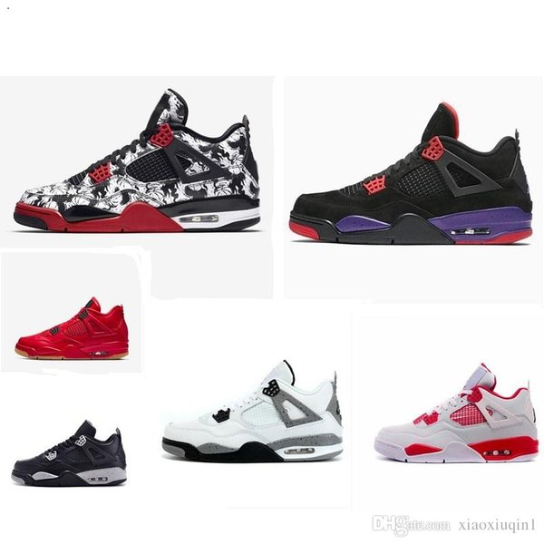 New Men/'s Air J 4 Retro basketball shoes High Top Classic Sneakers US size 7-13