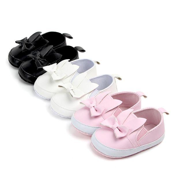 Primavera de Pu Pu Meninos Recém-nascidos de Couro Sapatos para Meninas Primeiros Caminhantes Fringe Bow Bebê Moda Sapatos 0-18 M Sapatos de Casamento de Aniversário fo