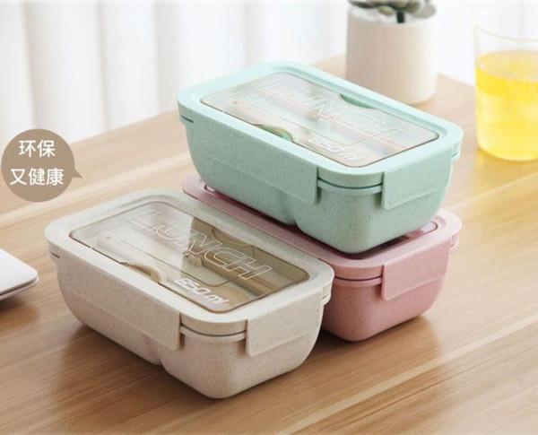 Öğrenci Japon öğle yemeği kutusu Yaratıcı öğle yemeği kutusu sofra ile set mikrodalga ısıtma öğle yemeği kutusu set toptan fabrika doğrudan satış