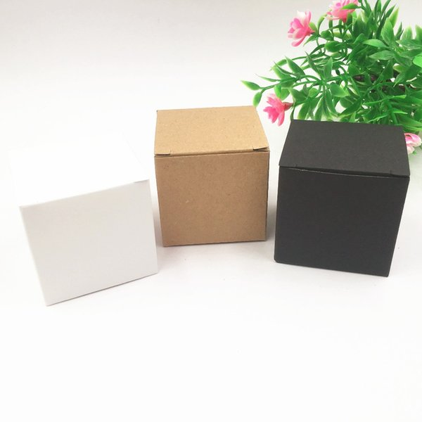 50pcs High Quality 5x5x5cm Kraft Paper Candy Box Square Shape Wedding Gift Party Supply Cupcake Package box