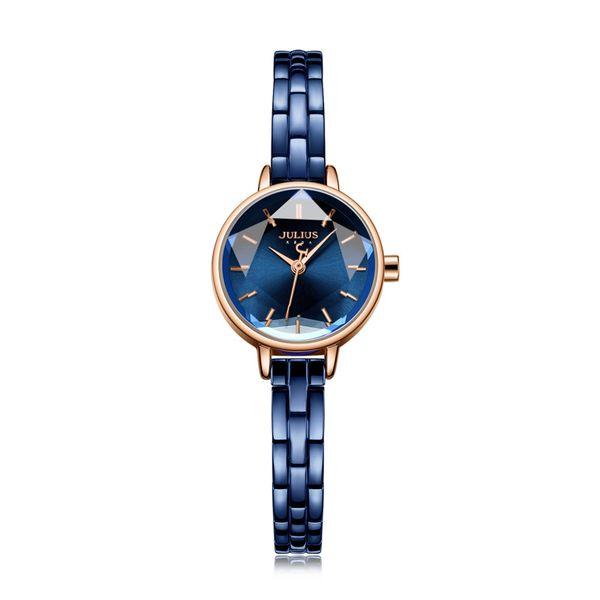 Nouveau Julius Lady Femmes Montre Petite Mignon Star Cut Mode Heures Rétro Bracelet Affaires Horloge Fille Anniversaire Valentine Boîte-Cadeau
