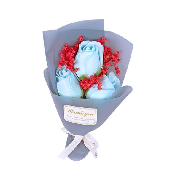 3 blue roses