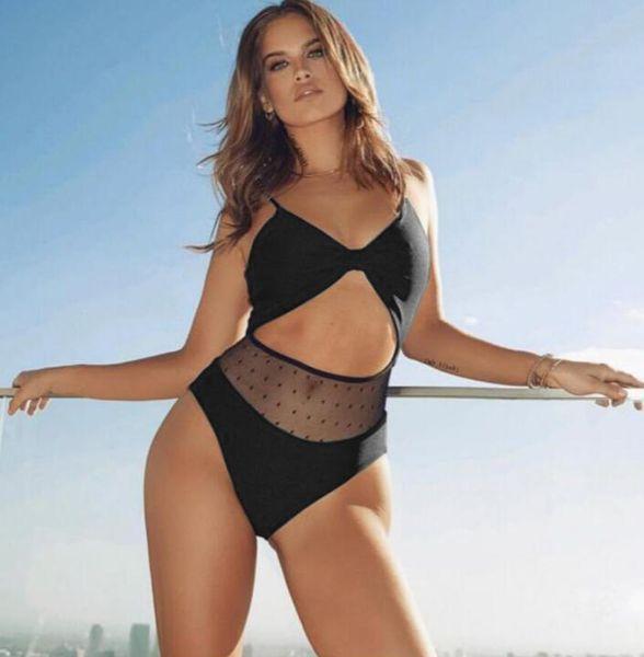 Sexy Mesh Short Sleeve Bikini 2019 Collar Women Swimsuit Crop Top Bikini Swimwear Mujer Bathing Suit Bandage Swimming Suit