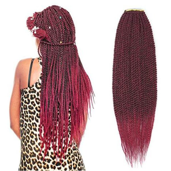 Crochet Braids 18 20 Inch Long Box Braided Hair Synthetic Braiding Hair For African American 30strands/pack T1B/BG