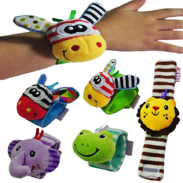 Bebê Chocalhos Macio Brinquedo De Pelúcia Relógio de Pulso Banda Banda Cama Sinos Sinos de Mão Do Bebê / Infantil Apaziguar Brinquedos
