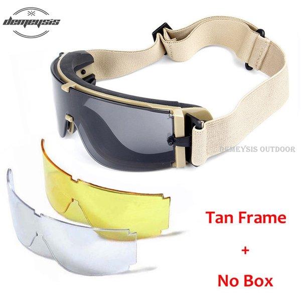 no box tan frame