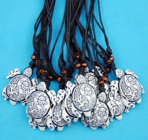 Jewelry Wholesale 12PCS Man woman surfing tribal style frog sun sea turtles Pendants Necklaces gifts TT3