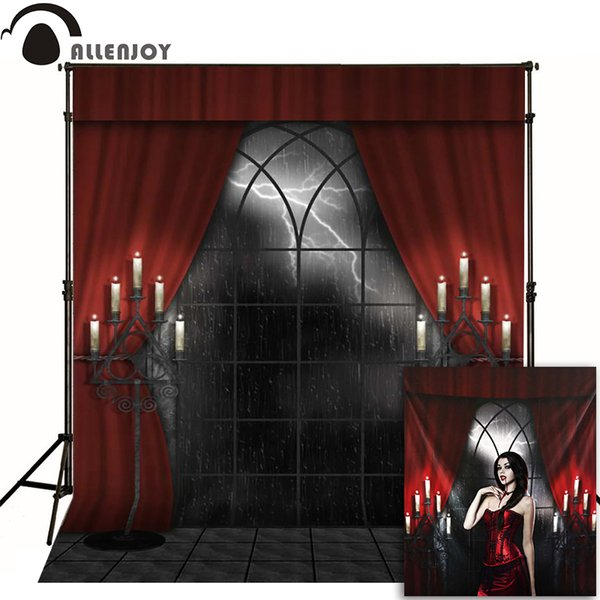 ackdrop photography Allenjoy photographic background Lightning candle Halloween haunted house photo backdrops for sale photography high q...