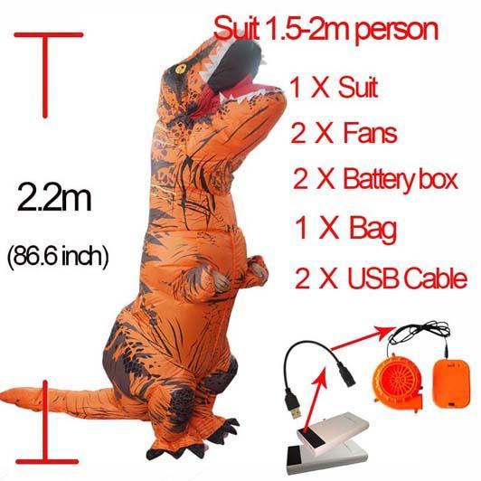 Orange L Dinosauro gonfiabile