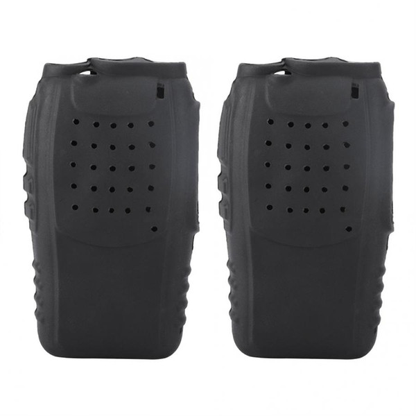 UV 5r 2Pcs Soft Silicone Two-Way Radio Holster Case Protection for Baofeng BF888s Walkie Talkies for baofeng uv-82