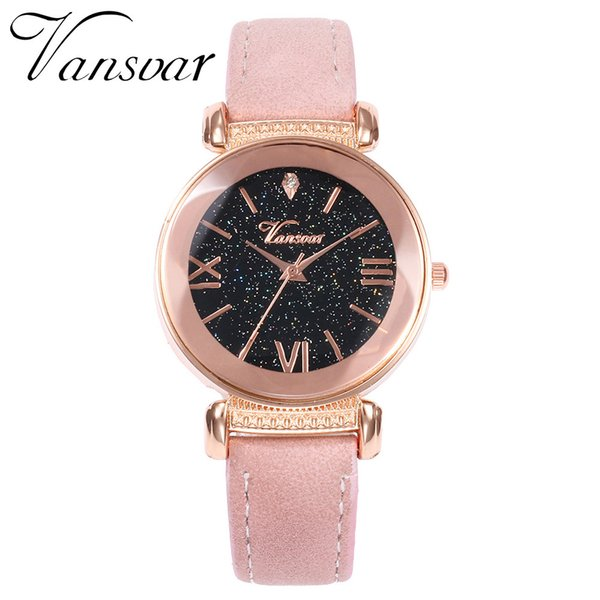 Vansvar Casual Watch Luxury Women Leather Band Watch Relogio Ladies Analog Quartz Wrist Clock Reloj Mujer #J2