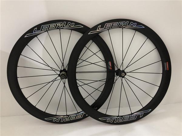 2019 Novità! Personalizzato High Profile LEERUN Bora Ultra 50mm 38mm Carbon Wheelset 700C Cerchio 18/21 buche Chameleon Decalcomanie strada Uso Bicicletta