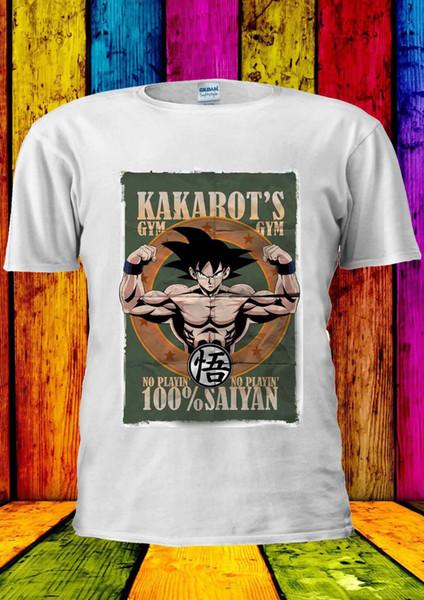 Son Goku Kakarot's GYM Dragon Ball T-shirt Vest Tank Top Men Women Unisex 2047 Funny free shipping Unisex Casual tshirt
