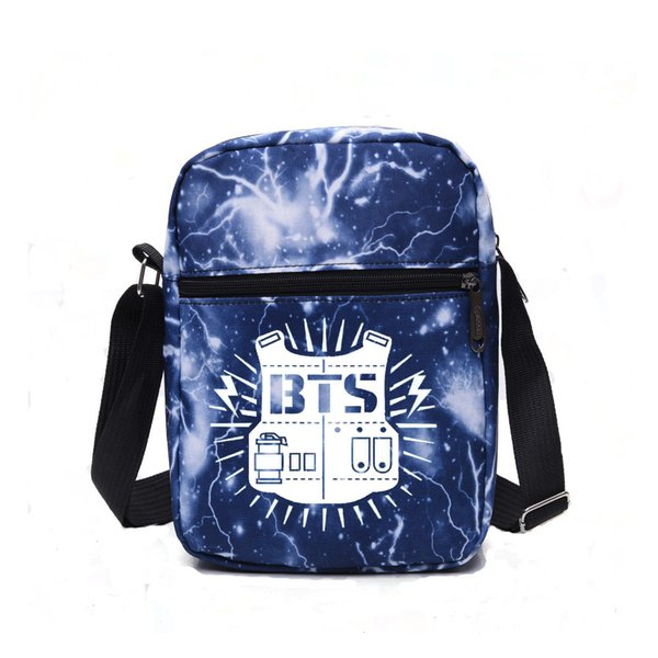 Space BTS Bag Kpop Small Casual Crossbody Bag Messenger Shoulder Bags For  Teenage Boys Girls Student Handbag Travel Flap Bags 4bc9fca96ae0d