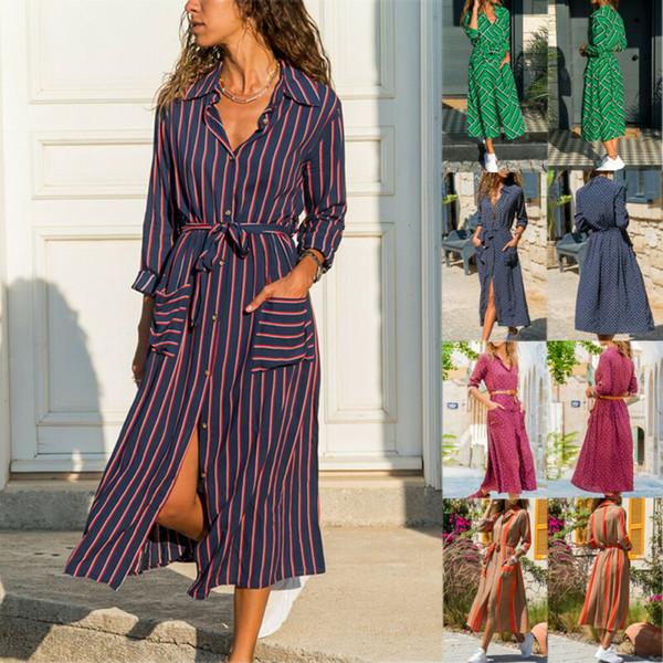 Hiver Femmes col V à manches longues Slim Robe moulante Avslappnad Shirt Robe Vêtements pour femmes