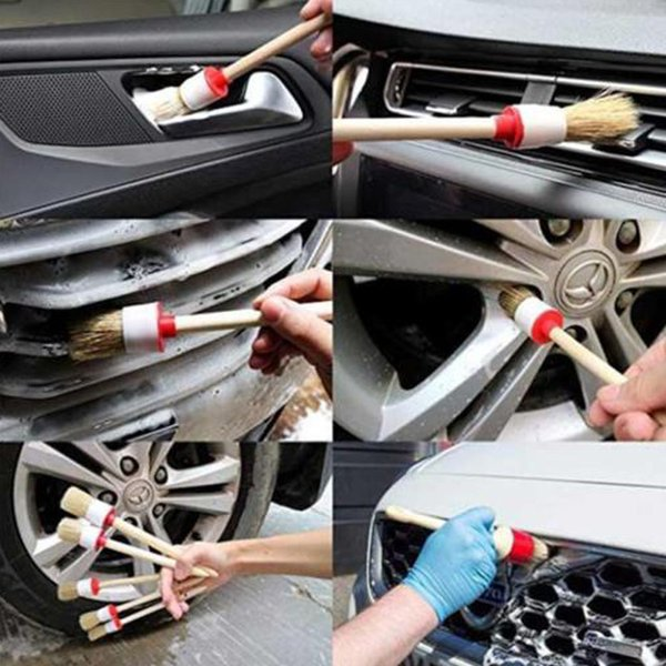 11 Pcs Detalhamento Do Carro Kit Escova de Cabelo Macio Auto Roda Interior Ferramenta de Limpeza Do Carro Styling M8617