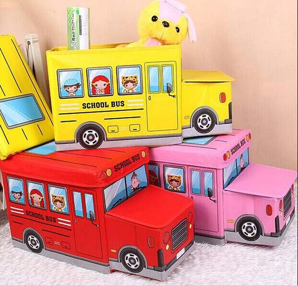 Creative Car Modeling Toy Storage Box Admission Box Car styling Can be folded 55cm*19cm*32cm Cartoon cute Free shipping