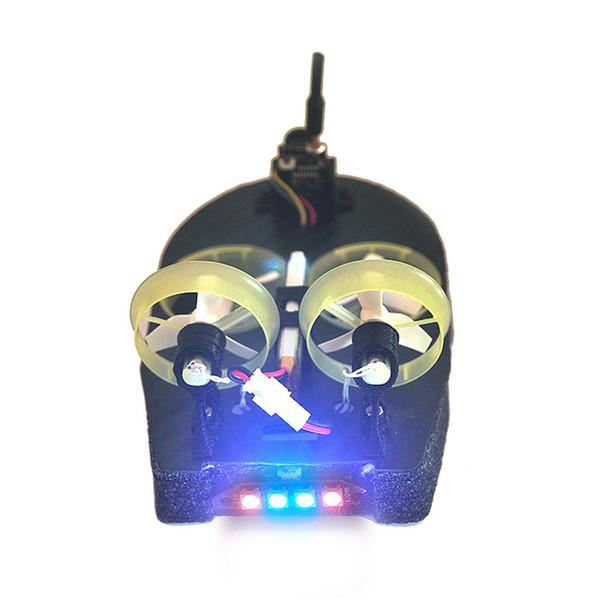 Hot Tiny Whoover TW65 Mini FPV Racing Hovercraft Barco Drift modelo de coche con receptor Frsky integrado OSD LED DIY Racer