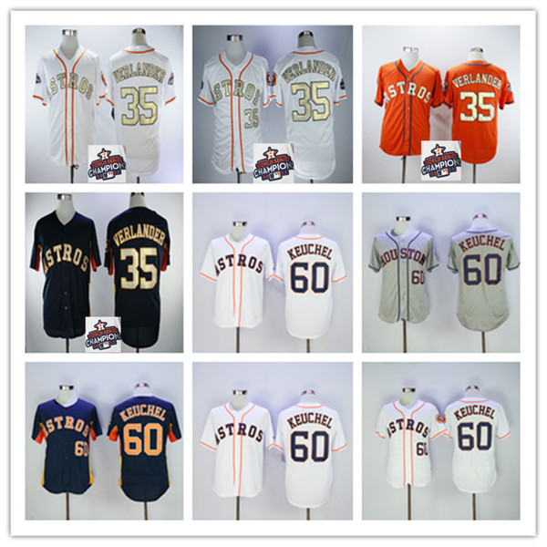 brand new eeecf 5d27f 2019 Houston 2019 Astros Jersey 35 Justin Verlander 60 Dallas Keuchel  Baseball Jerseys With 2017 World Series Champions Patch Jersey From ...