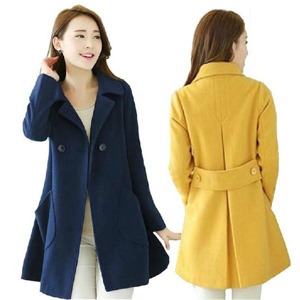 Rojo largo de manga larga de algodón Trench Coat Chic Windbreaker para niñas Streetwear primavera 2019 mujeres moda gótica más tamaño