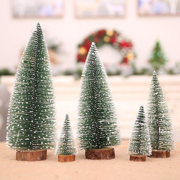 Mini Christmas Tree Snowflakes Ornaments New Year Wedding DIY Home Birthday Decor Christmas Gift Party Table Decoration 62282